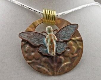 Frozen Charlotte Butterfly Necklace