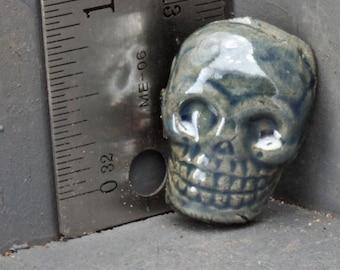 Skull Cabochon in Raku