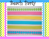 12 Yds WHOLESALE 3/8 Inch BEACH PARTY Do It Yourself  unkorked korkers collection St Patricks Day grosgrain ribbon Low Shipping Cost