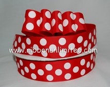 10 Yds WHOLESALe 1.5 Inch ReD JUMBo PoLKA DoT grosgrain ribbon LOW SHIPPING COST
