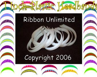 25 pc Wholesale Set of HALF Inch Plastic Headbands