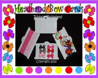 10 Large Hairbow or Headband  DISPLAY CARDS for toddler and girl headbands and hairbows