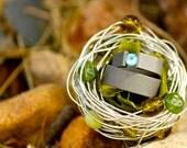 Wire Birds Nest Ring Holder