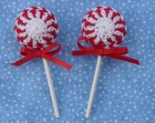 Peppermint Lollipops - Set of 2
