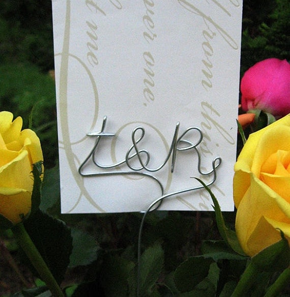 RESERVED LISTING for Annette Bognar - 20 Personalized Initial Monogram Table Number Card Holder Picks