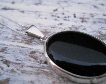 big onyx pendant necklace