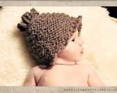 Hoopy Dee Loop, the Alpaca Wool Knit Crochet Baby Cap