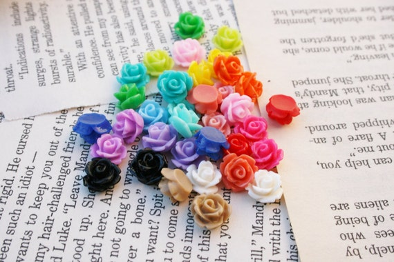 Resin Rose Plugs Gauges Pick Your Color for gauged ears custom size 12g, 10g, 8g, 6g, 4g, 2g, 0g