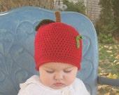 Apple of My Eye Hat SIZES Newborn or 3mo
