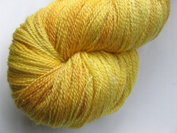Beam Me Up on Twinkle- Hand Painted Lace Yarn