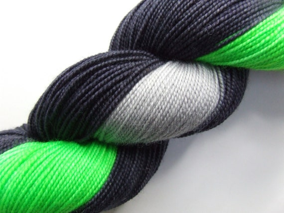 Resistance is Futile on Wallop- Hand Dyed Sock Yarn