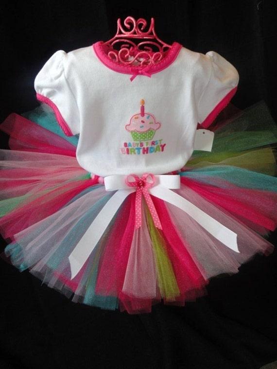 Bubble Gum YUM Tutu so sweet first birthday tutu baby toddler girl 2 4 6