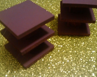 Pair of Aubergine End Tables - Dollhouse Size