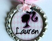 PERSONALIZED BARBIE NECKLACE, perfect Barbie birthday party favors, christmas gift, cute and unique gift (Listing 64)