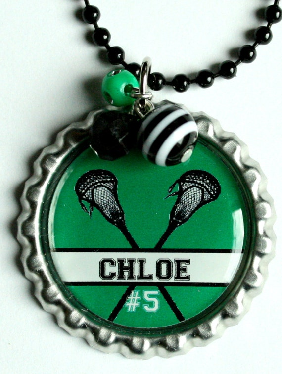 Items similar to PERSONALIZED LACROSSE NECKLACE, great ...