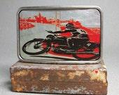 Belt Buckle Motorcycle Race