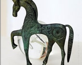 GREEK BRONZE HORSE IN GALLOP