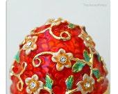 Faberge Style Egg Box Vintage