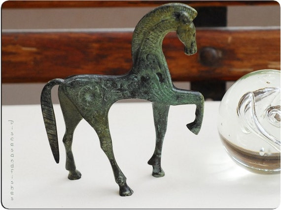 Greek Bronze Horse in Gallop