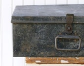 Antique Industrial Chic Strong Box with Compartments