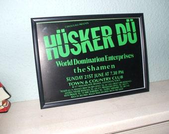 Husker Du  Framed Gig Poster Print