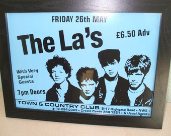 The La's Framed Gig Poster Print