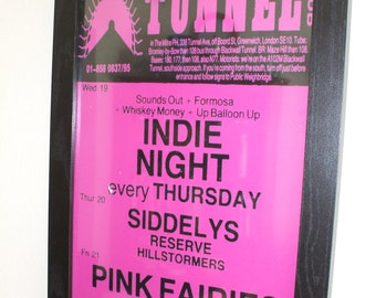 The Tunnel Club Indie Gigs Poster Print (The Siddeleys)