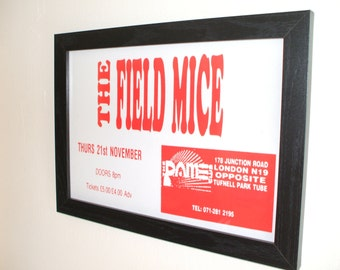 The Field Mice Gig Poster Print