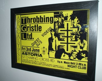 Throbbing Gristle Ltd Framed Gig Poster Print