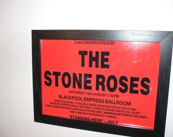 Stone Roses Blackpool Empress Ballroom Framed Gig Poster Print