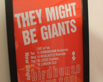 They Might Be Giants Framed Gig Poster Print