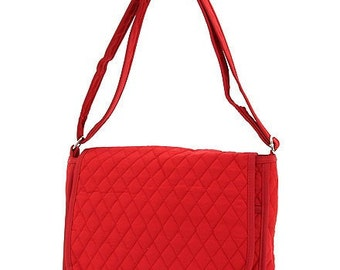Galaxy Tablet , Kindle fire, Messenger bag in solid Red with free monogramming