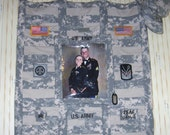 U.S. Army quilted wall hanging military ACU camo gift