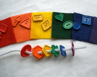 Felt and Buttons Sorting Set and Fine Motor Activity