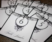 Flat Table Numbers (Set of 10) - Lauren Style