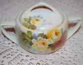Vintage Nippon hand painted china sugar bowl.
