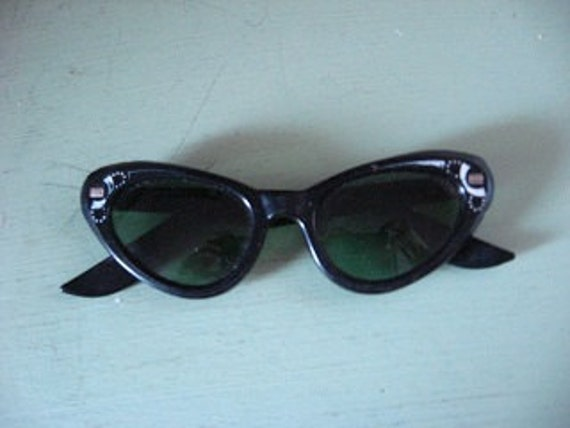 Black Cat Eye Sun Glasses 1950s era