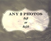 Any TWO photographs to be 8x8 or 8x10