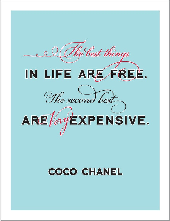 The Very Best Things - Chanel - Print