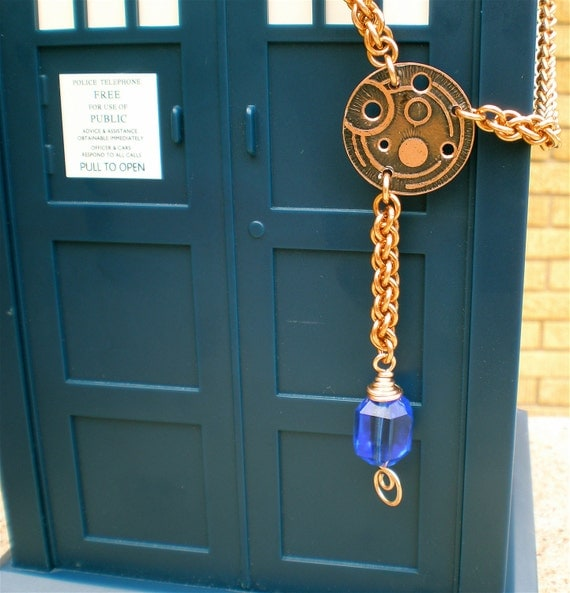 SALE Tardis Blue Dr. Who inspired Galifreyan Runes in copper, bronze, and cobalt blue