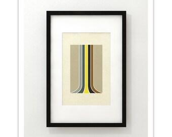 STIG - Giclee Print - Mid Century Modern Danish Modern Minimalist Abstract