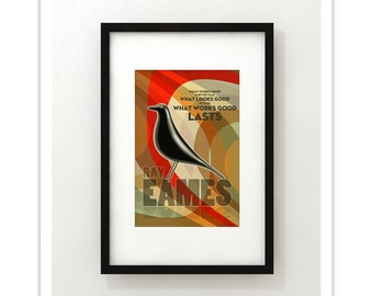 What Works Good..... Ray Eames - Giclee Print - Modernist Minimalist Illustration