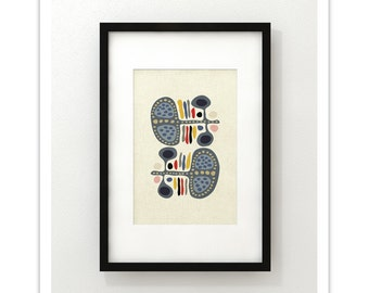 OUTBACK - Giclee Print - Mid Century Modern Danish Modern Minimalist Cubist Modernist Eames Abstract