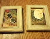 Elegant crazy quilt repurposed, framed