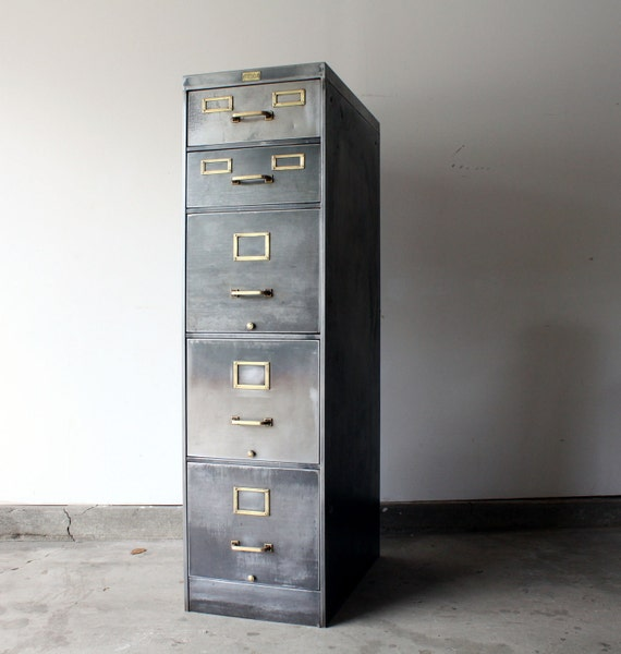 1930s allsteel stripped filing cabinet for How to paint metal file cabinet
