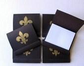 Matchbook Notepads with Fleur de Lis - Set of 6