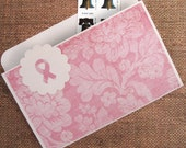 File Folder Magnet in Pale Pink for Breast Cancer Awareness for Recipes, Coupons, Notes or Photos