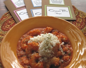 DIY Recipe for Shrimp Creole in Queen B's Recipe Folder