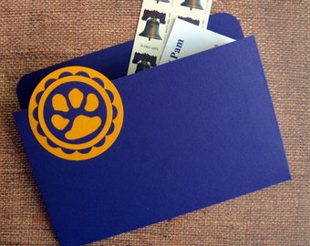 Coupon Organizer and Refrigerator Folder Magnet in LSU Purple and Gold Geaux Tigers for Recipes, Coupons and Photos