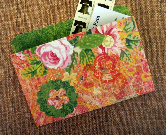 Refrigerator Folder Magnet with Pink Rose for Recipes, Coupons and Photos